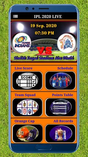 IPL 2020 Live Match Score screenshot 1