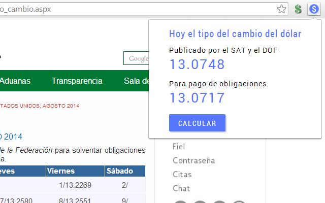 Dolar Sat Y Dof Chrome Web