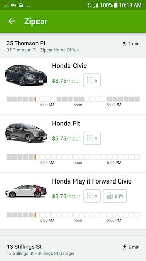 Zipcar Screenshot