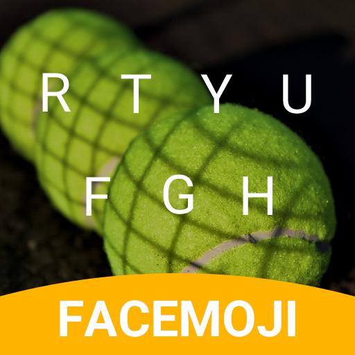 Tennis Balls Emoji Keyboard Theme for Querrey