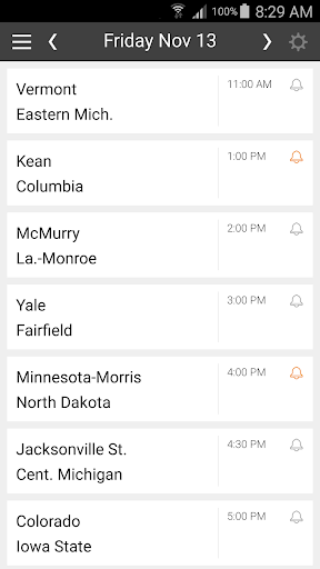 Basketball Schedule for NCAA