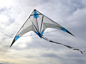 Photo: TrickTail UL Flown With Black Tribute Tail. I had just learned a great kite flier Brian Todd had died.