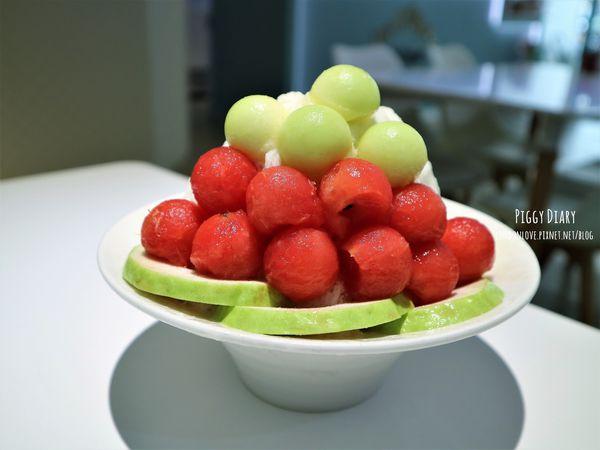 愛吃摩爾。圓圓水果球山綿綿冰,可愛又吸睛