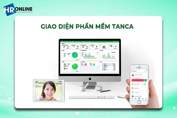 Giao diện phần mềm Tanca