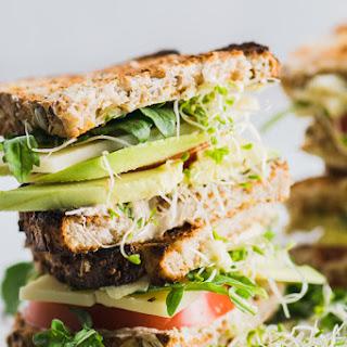 Healthy Veggie Hummus Sandwich.
