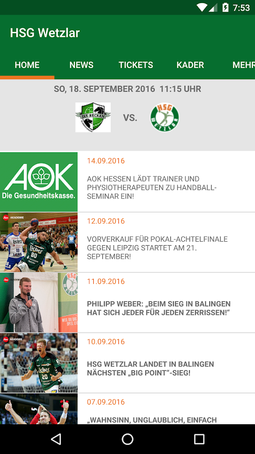 HSG Wetzlar- screenshot