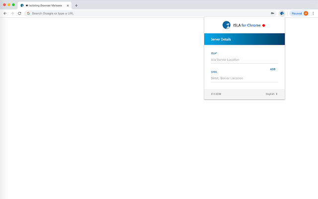 Isla Redirection Extension 3.2 for Chrome
