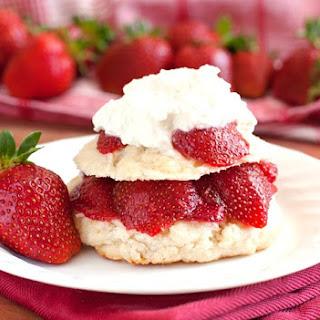 Farmer's Market Strawberry Shortcake with Fresh Whipped Cream