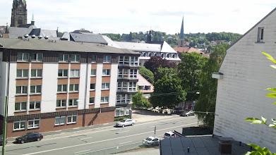Photo: Das Marienhospital (teilweise verdeckt) und der Turm der Johanniskirche.