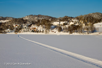 Photo: Hyggen, from the ice on the Drammensfjord