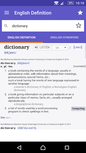 Wordreference dictionaries apps on google play screenshot image screenshot image malvernweather Gallery