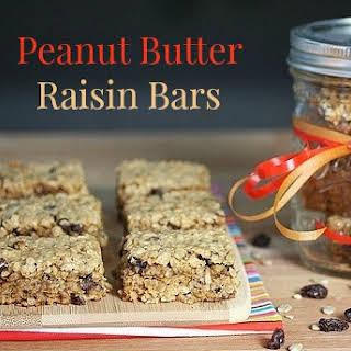 Peanut Butter Raisin Bars.