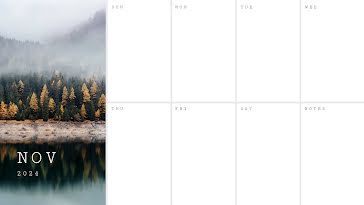 Mountain Monthly - Monthly Calendar template