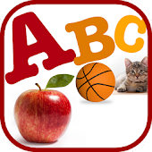 A for Apple Alphabet Flashcard