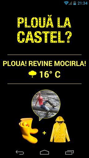 Plouă la Castel