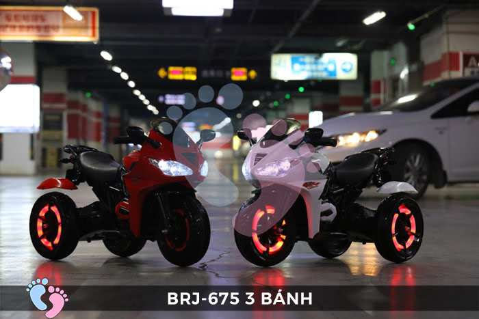 Xe moto điện trẻ em BRJ-675 3 bánh 2