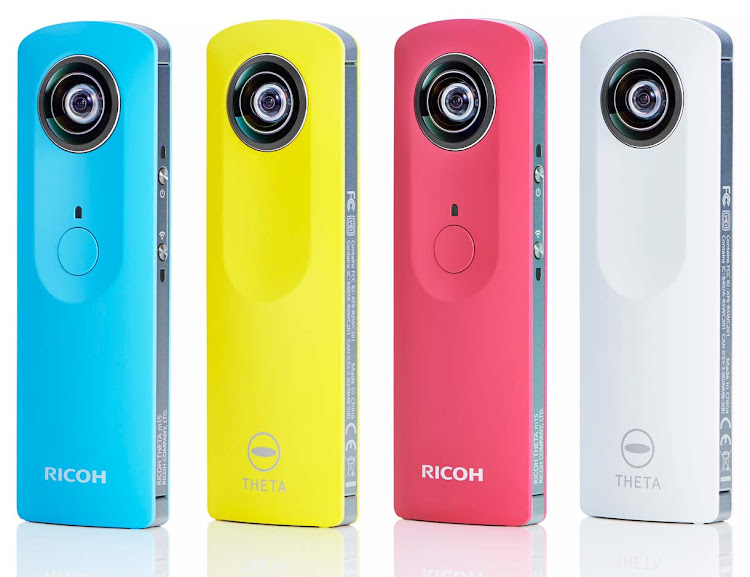 The Ricoh Theta takes 360-degree spherical panoramic videos and stills.