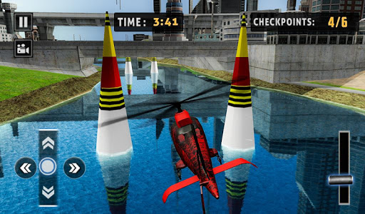 Flying Helicopter Simulator 2019: Heli Racer 3D  screenshots 15
