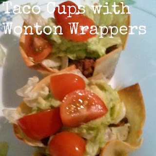 {Recipe} Taco Cups with Wonton Wrappers Recipes.
