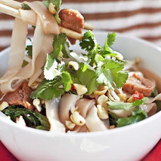 Char Siu Pork with Rice Noodles.
