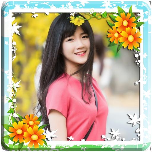 Flower Photo Frame Collage