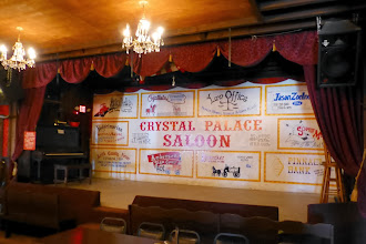 Photo: Crystal Palace Saloon. My parents have a picture of a little boy on the stage getting a badge. Alas, the show is only in the evening, so they won't get to share in Daddy's experience.