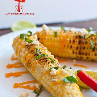 Mexican Street Corn w/ Honey Buffalo Butter & Gorgonzola Cheese