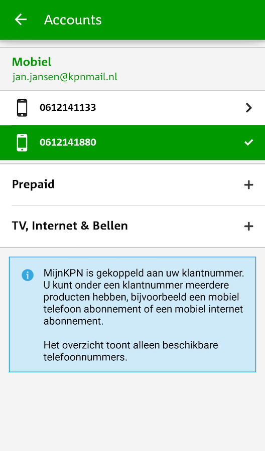 MijnKPN- screenshot