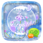 (FREE) GO SMS ICE CRYSTAL THEME