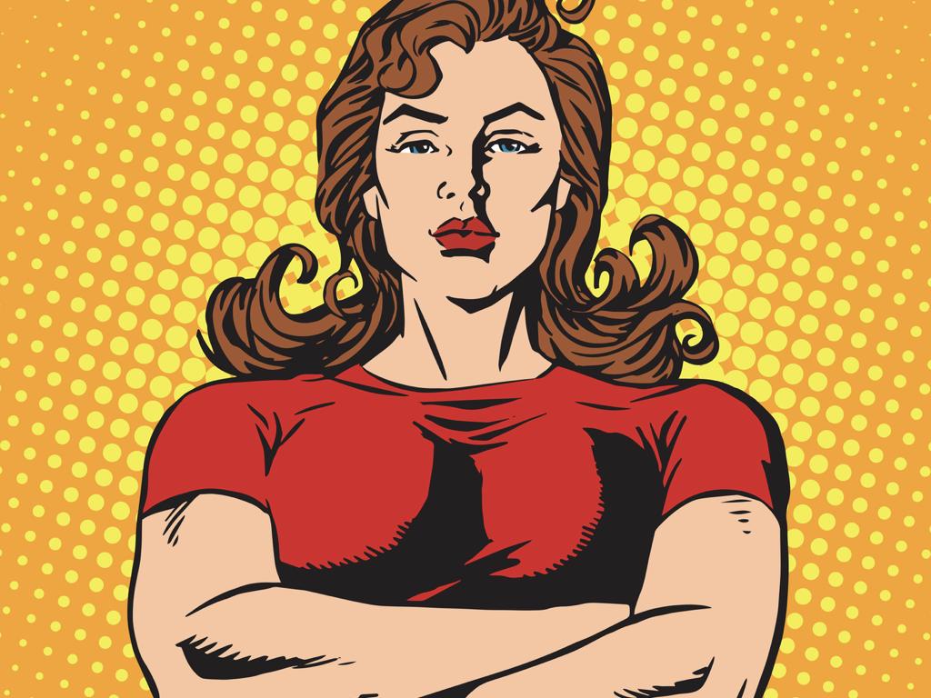 entschlossene powerfrau
