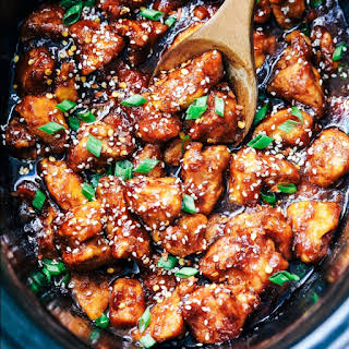 Slow Cooker General Tso's Chicken.