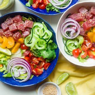 Tuna Ceviche Bowls.