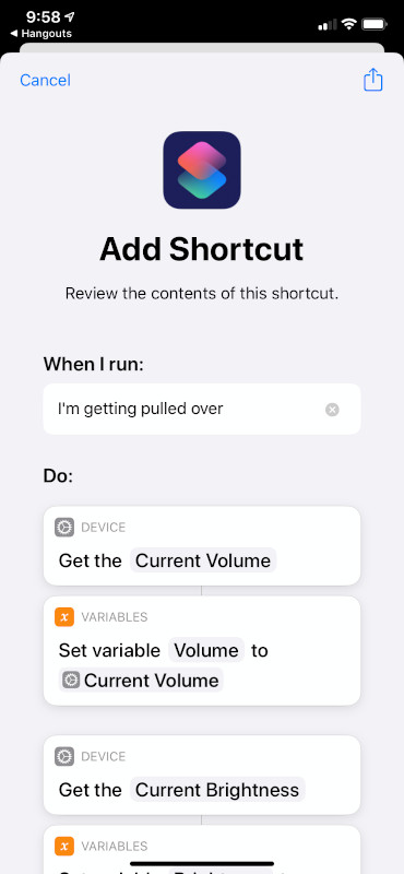 Shortcut Actions