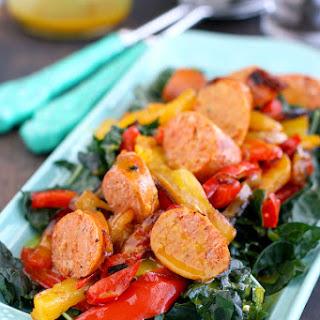 Honey Mustard Kale Salad with Sausage.