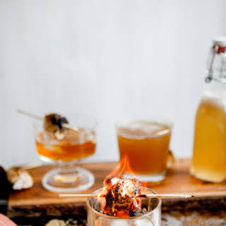 Rye Whiskey And Marshmallow Simple Syrup.