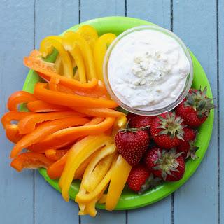 Healthier Blue Cheese Salad Dressing.
