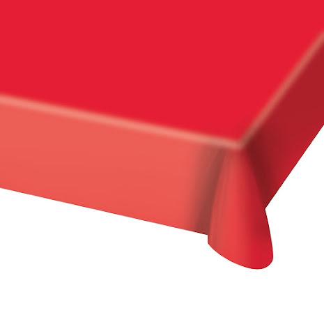 Duk, röd, 180x130 cm