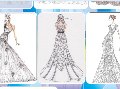 Sketch of Bridal Gown - Apps on Google Play