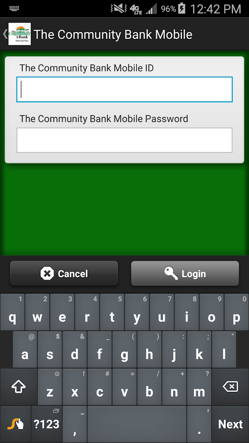 The Community Bank Mobile- screenshot