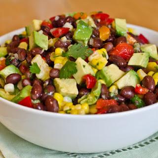 Black Bean, Corn, and Red Pepper Salad with Lime Cilantro Vinaigrette Recipe