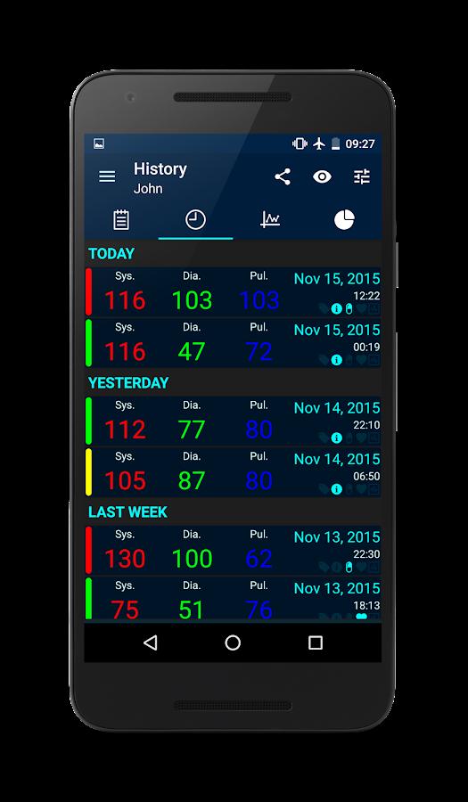 Blood Pressure- screenshot