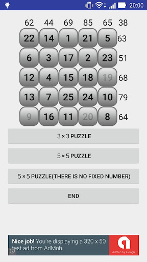 숫자 퍼즐 매직 스퀘어