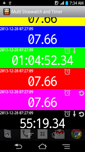 Multi Stopwatch and Timer Pro screenshot 2