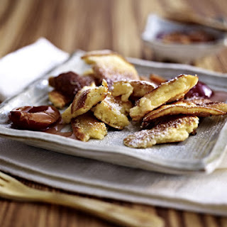 Kaiserschmarren - Shredded Pancakes with Raisins and Plums