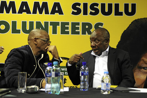 ANC secretary-general Ace Magashule and President Cyril Ramaphosa