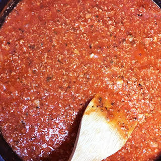 Quick & Easy Pasta Sauce - Meat and Marinara.