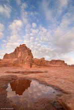 Photo: Sheep Clouds: Clouds over sunrise lit Courthouse tower. Bigger and Prints: http://lagemaatphoto.smugmug.com/Landscapes/National-Parks/Arches-National-Park/3876776_phTb5j#!i=2385928472&k=8g5KL97&lb=1&s=A