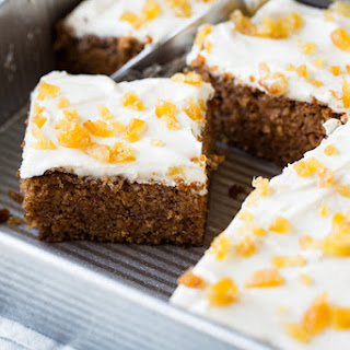 Chinese Five Spice Cake with Ginger Frosting.