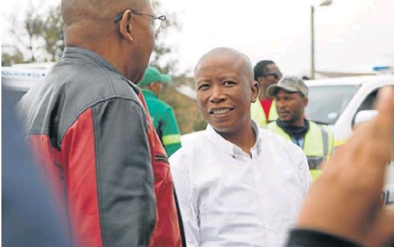 EFF leader Julias Malema in George yesterday afternoon where he attended a rally in Thembalethu. 6 April, 2018.