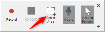 Microsoft Powerpoint Screen Recording Select Area